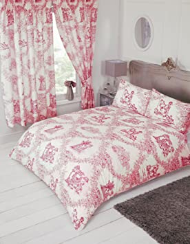 papier peint toile de jouy rouge papier peint toile de jouy aquitaine en coloris bordeau et de. Black Bedroom Furniture Sets. Home Design Ideas