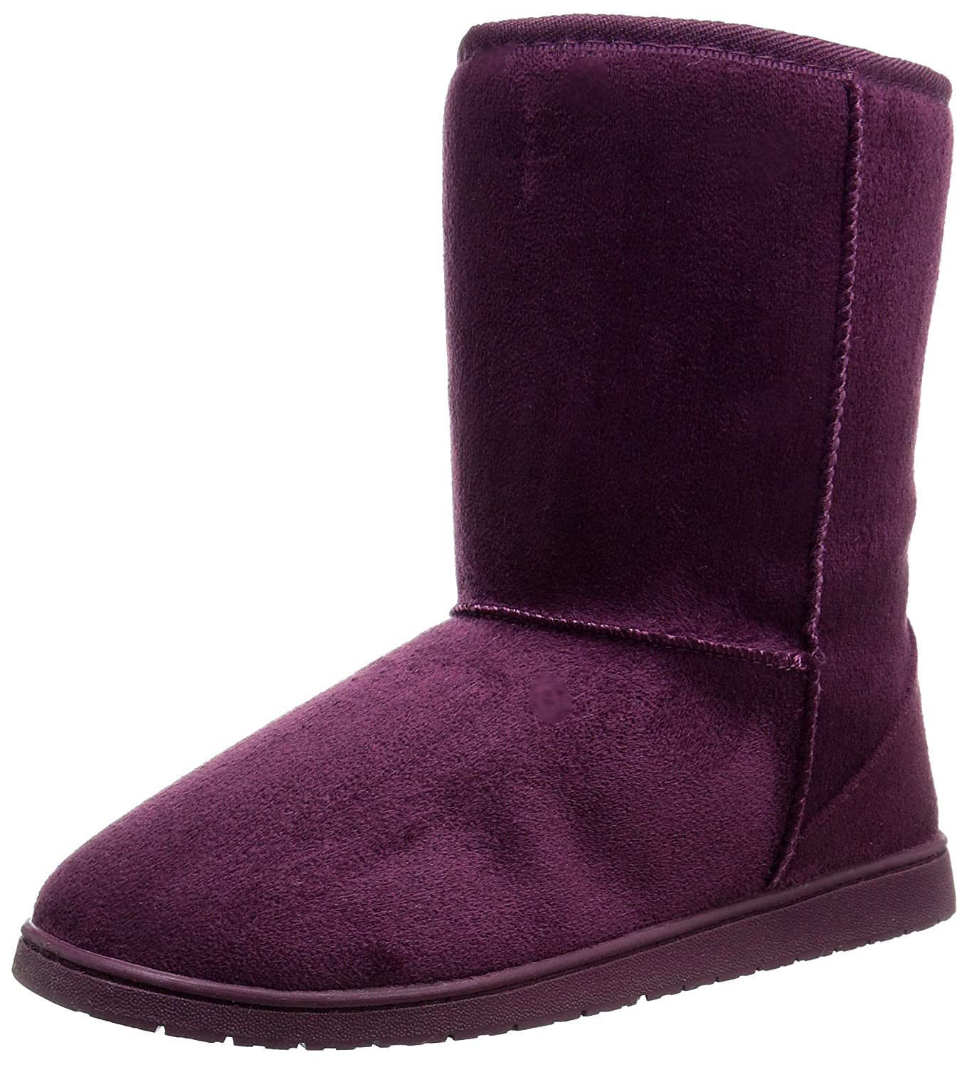 DAWGS Womens 9 Inch Faux Shearling Microfiber Vegan Winter Boots B00PTLAZJG 9 B(M) US|Plum