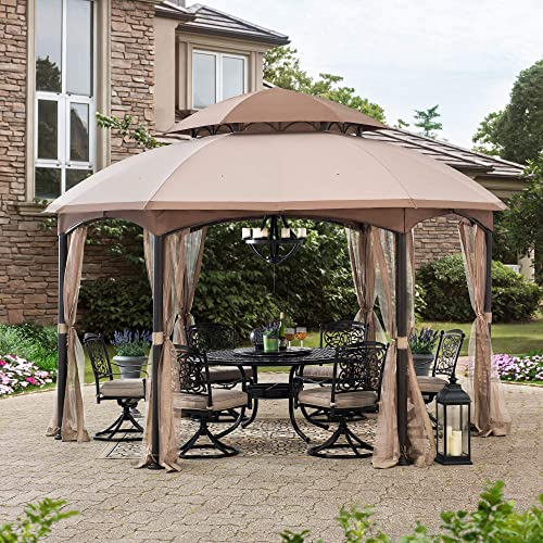 Sunjoy A101011800 Louisiana 13×13 ft. Steel Gazebo