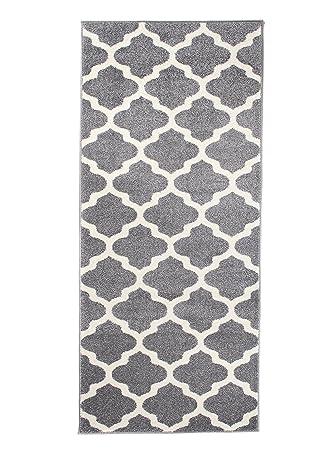 Gut gemocht Amazon.de: Carpeto Läufer Teppich Modern Grau 70 x 400 cm OA71