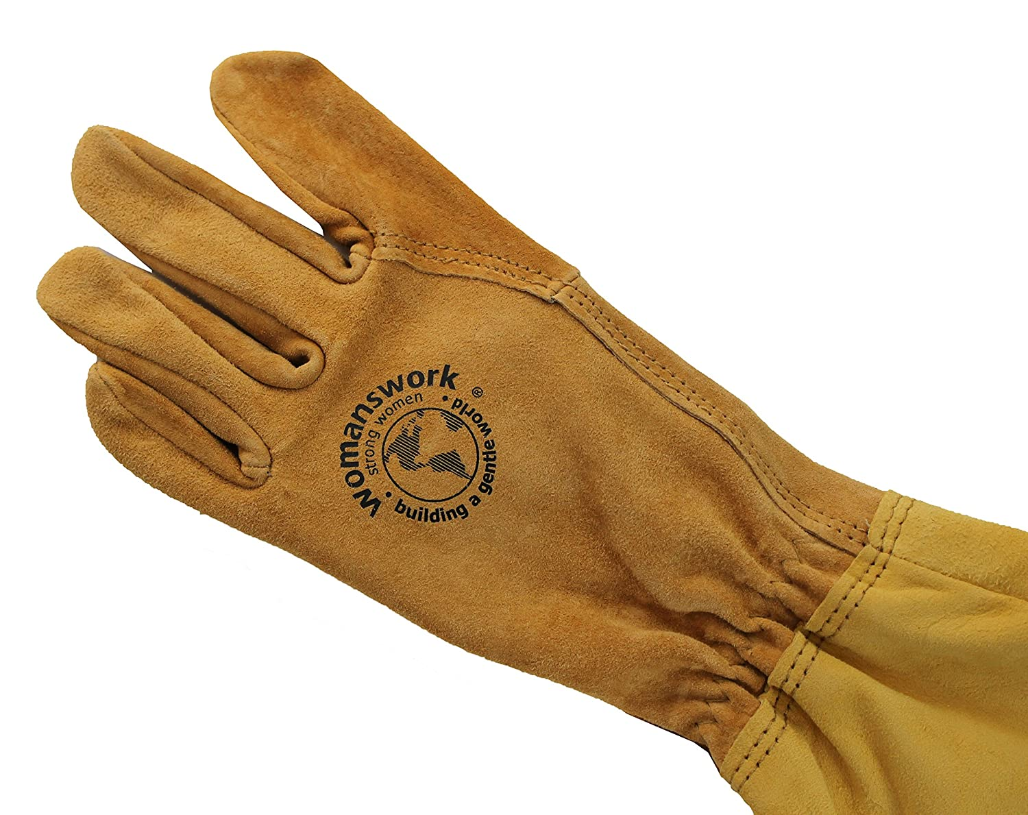 Amazon.com: Womanswork Rose Gauntlet Leather Garden Gloves – Made in ...