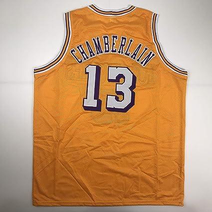 c9f65ea6d Unsigned Wilt Chamberlain Los Angeles LA Yellow Custom Stitched Basketball Jersey  Size Men s XL New No