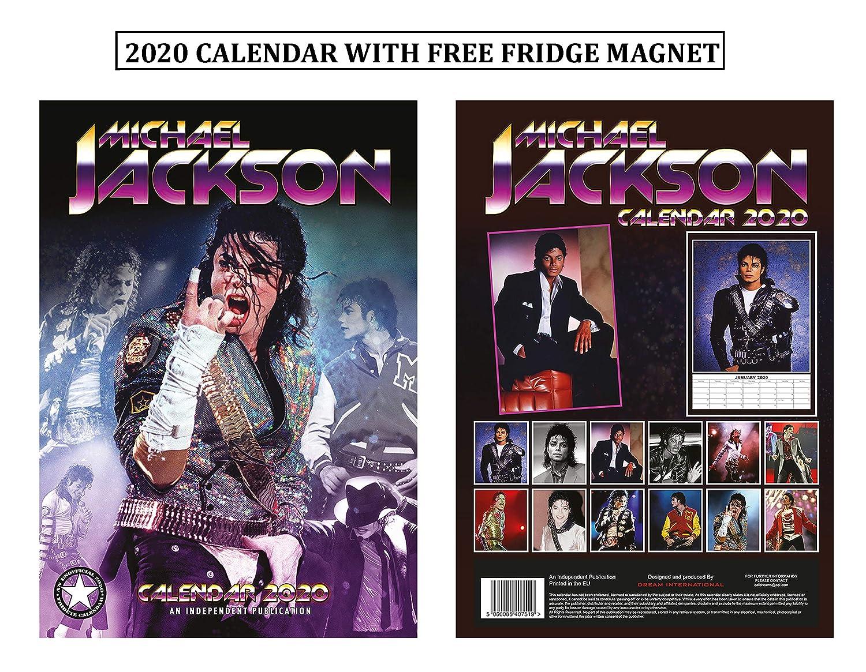 Michael Jackson Calendrier 2020 Calendar With Michael Jackson Aimant De R/éfrig/érateur