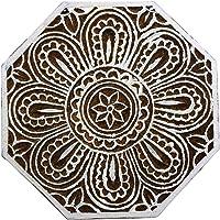 Talladas Mano Del Estampado De Flores Textiles Wood