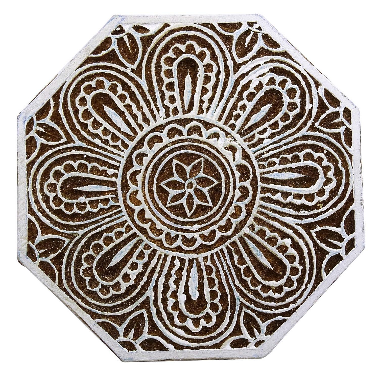 Blumenmuster Hand Geschnitzt Handgemachte Textil Holz Holz Stempeldruckblock Zubehör