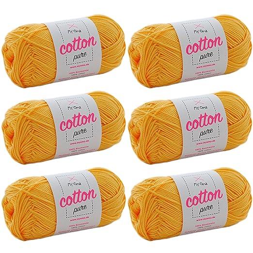 Baumwolle Garn Myoma Cotton Pure Honiggelb Fb 0114 Baumwolle Zum