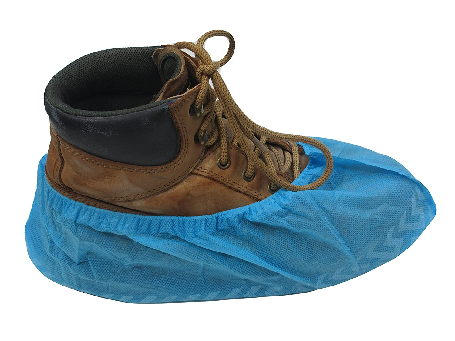 ProCES Shoe Cover - Non Slide - 100 Pack - Large - One Size Fits Most Shoes - Work Or On The Job Shoe and Floor Protection