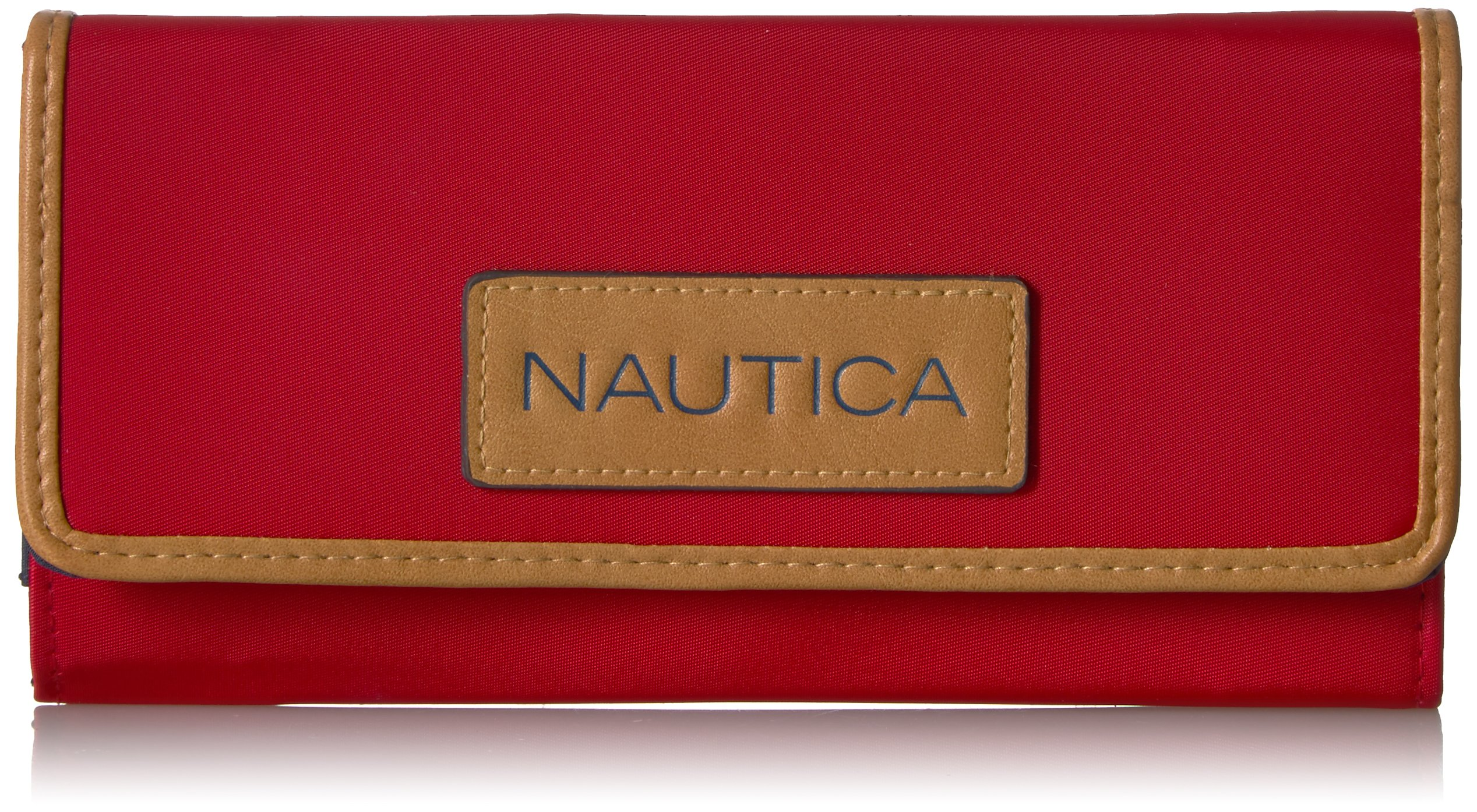 Nautica Women's Perfect Carry-All Money Manager RFID Blocking Wallet Organizer, Red by Nautica
