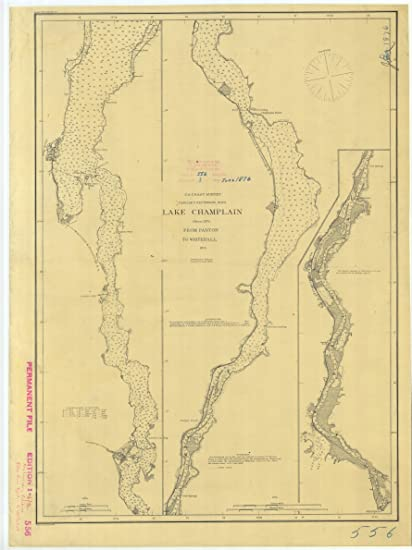 Amazoncom 18 X 24 Canvas 1876 Vermont Old Nautical Map Drawing - Vermont-on-us-map