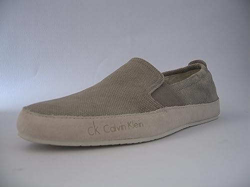 Calvin Klein - Mocasines de tela para hombre Beige Taupe 41: Amazon.es: Zapatos y complementos