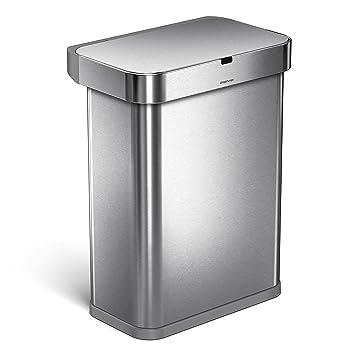 Amazon Com Simplehuman 58 Liter 15 3 Gallon 58l Stainless Steel