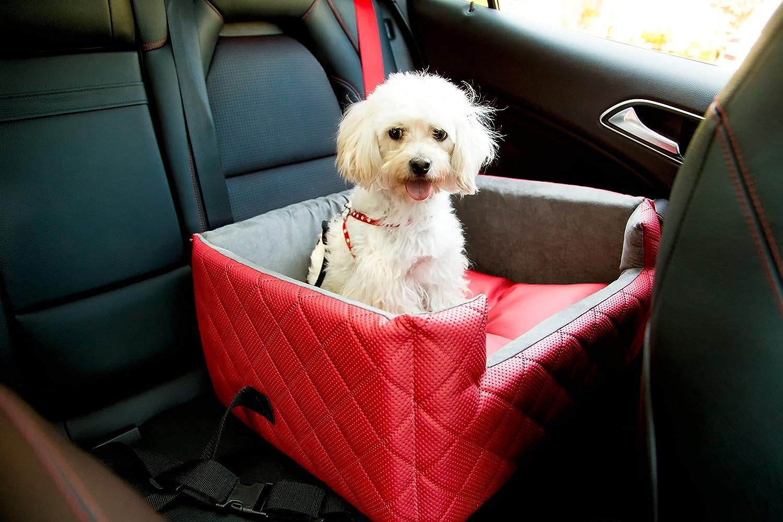 LUX Autositz R/ückbank//Vordersitz Luxus f/ür Hunde ohne Chemie Amibelle komfortabler Hundesitz
