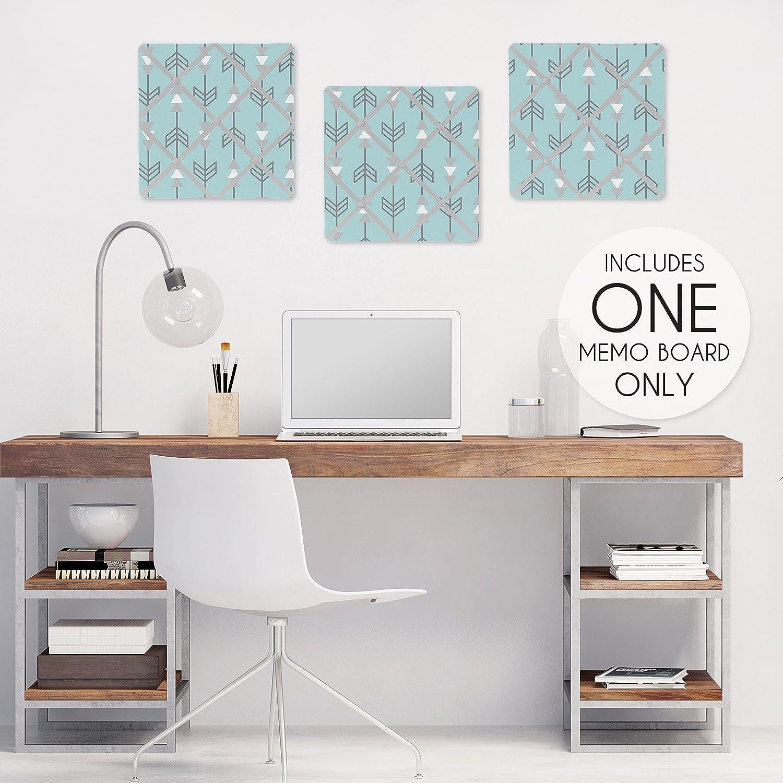 Turquoise Blue and Gray Earth and Sky Arrow Print Fabric Memory//Memo Photo Bulletin Board Sweet Jojo Designs B00XQ98X2Y
