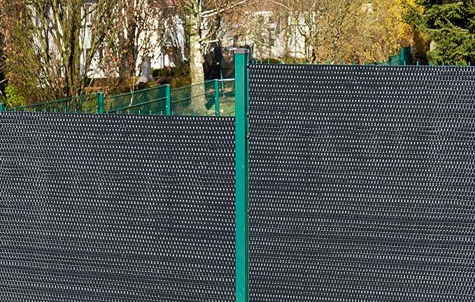 Die Kabelbinder fur  Polyrattan Balkonsichtschutz Matte   Anthrazit