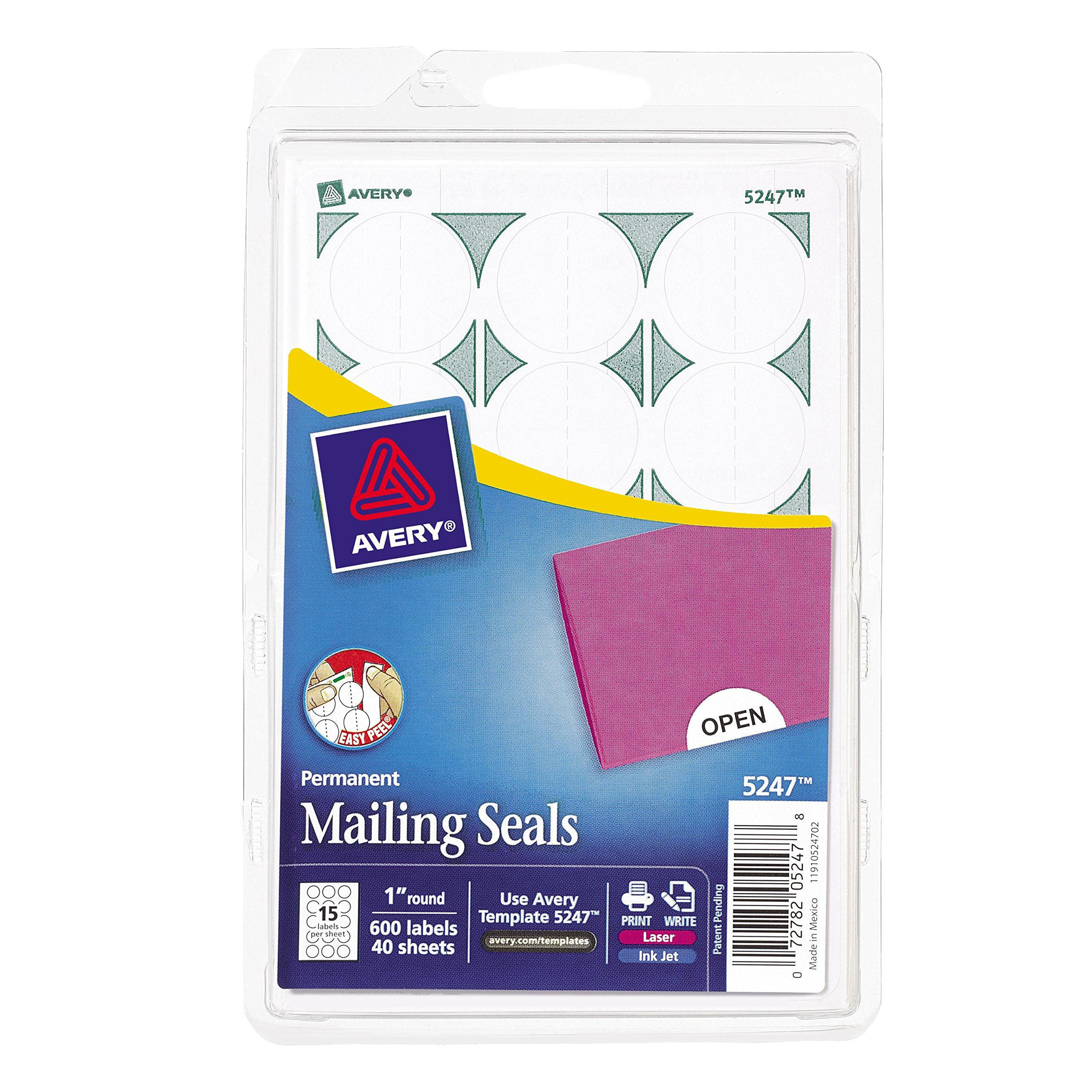 Amazon Avery Mailing Seals For Laser And Inkjet Printers 1
