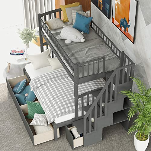 SOFTSEA Twin Over Full Bunk Bed