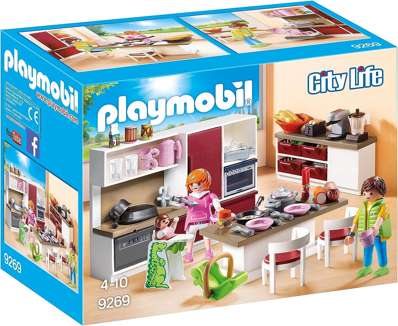Playmobil Cuisine Amenagee 9269 Amazon Fr Jeux Et Jouets