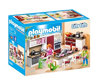 Playmobil 9269 City Life Kitchen Amazon Co Uk Toys Games