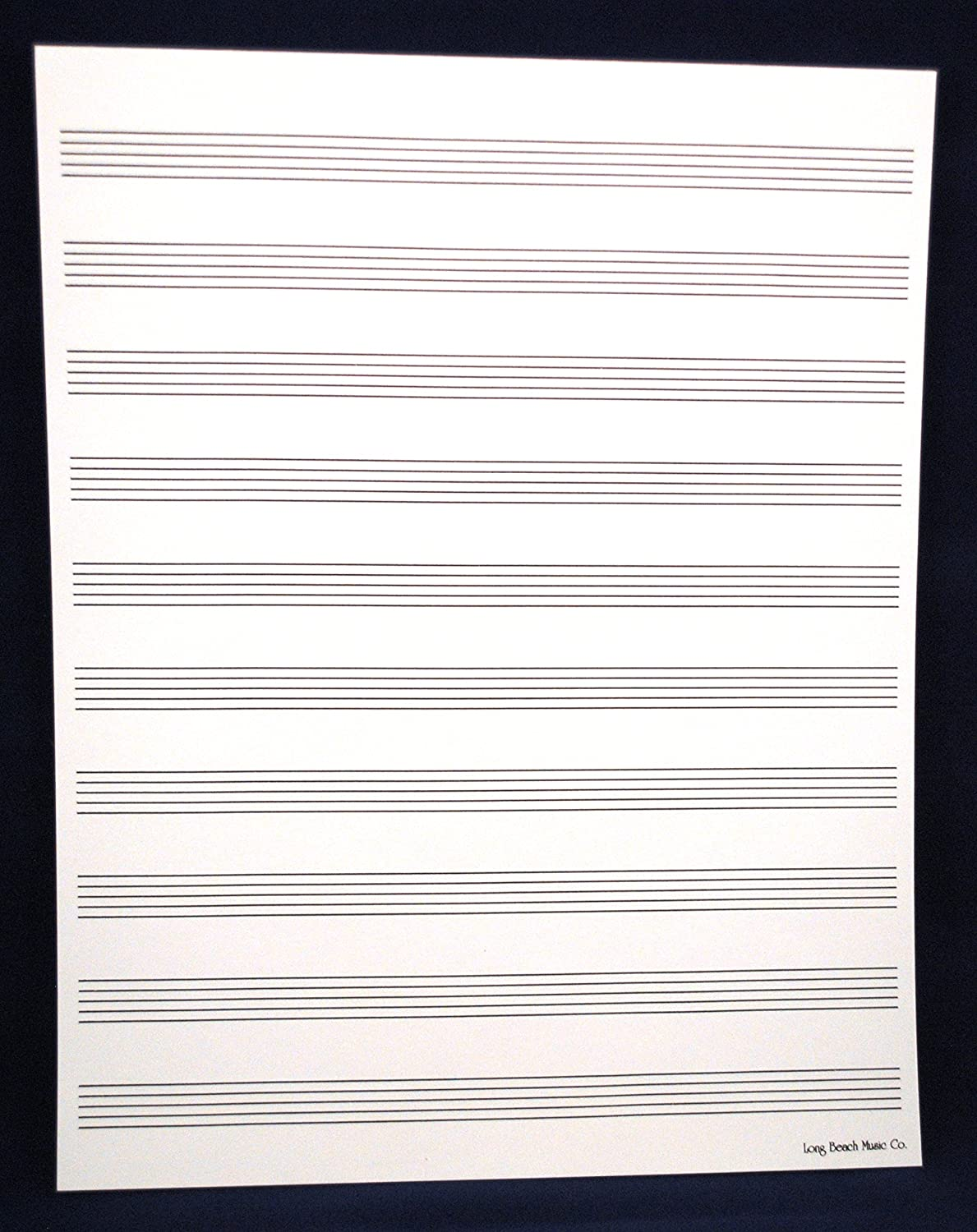 Manuscript Paper 10 Staff for Sheet Music Composition, Song Writing, Piano Long Beach Music 4334225069
