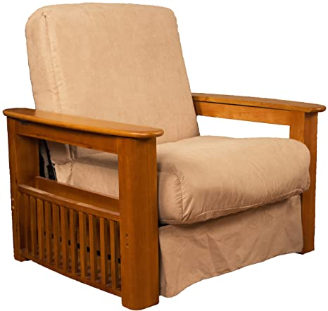 Peachy Chicago Storage Arm Style Perfect Sit Sleep Pocketed Coil Inner Spring Pillow Top Chair Sleeper Child Size Bed Chair Size Medium Oak Finish Dailytribune Chair Design For Home Dailytribuneorg