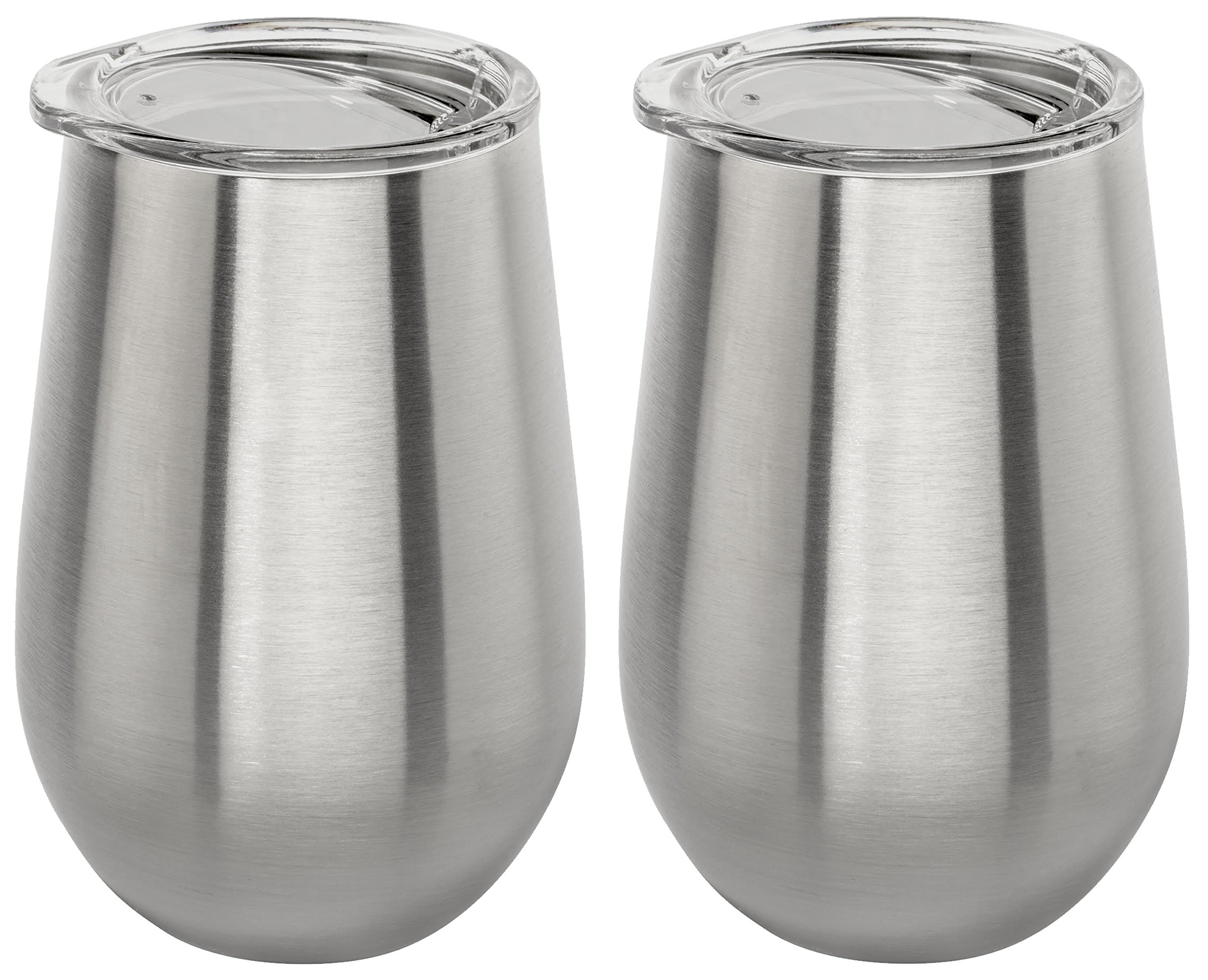Stainless Vacuum Insulated Wine Tumbler with Lid - 12oz Wine Glass by Lancaster Steel (2)