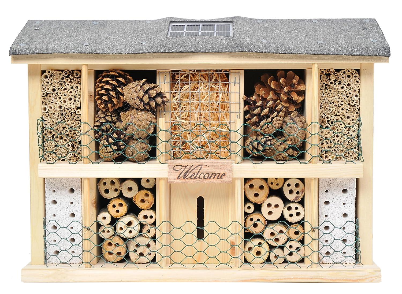 Luxus-Insektenhotels Hochwertige Nisthilfen für Insekten in verschiedenen Variationen
