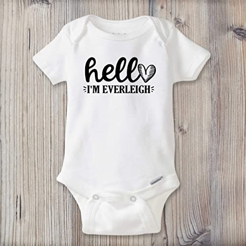 aea12fa48 Amazon.com: PERSONALIZED Baby Girl Name Onesie ®, Newborn Take Home ...