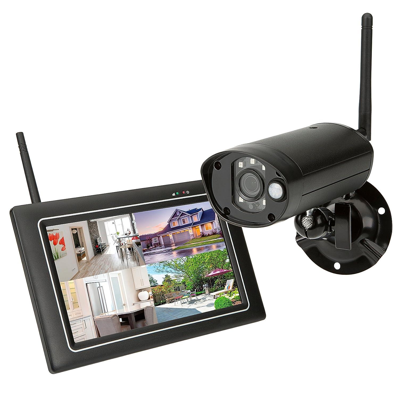SEC24 CWL401S - Qualité WiFi Système de Surveillance et de Sécurité avec Caméra extérieure et écran Tactile - La Surveillance en Direct et la Lecture - Full HD 1080p - Stockage des Images jusqu'à 2To