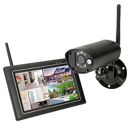 SEC24 Sistema de Seguridad con Cámara y Pantalla Táctil Vigilancia Inalámbrica