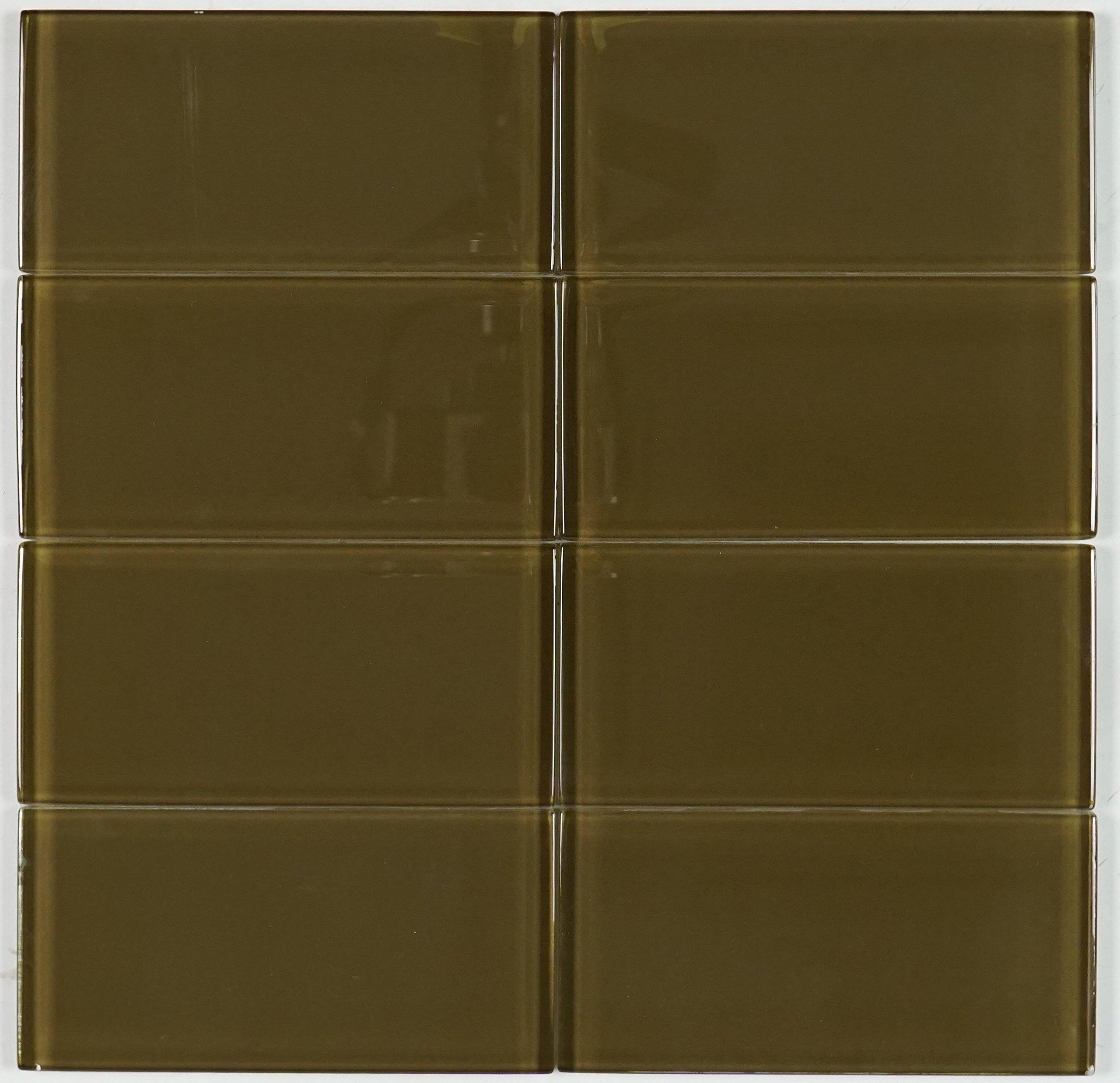 THG-06 Chocolate subway tile 3x6 - Kitchen and Bath Backsplash Wall Tile(8pcs)