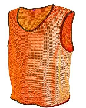 fc3bd5355 ALL THE GOOD 10 x Petos de Entrenamiento de fútbol Petos Pegatinas de  Camisa Petos Trikots Naranja neón Talla:Talla Media/Grande: Amazon.es:  Deportes y aire ...