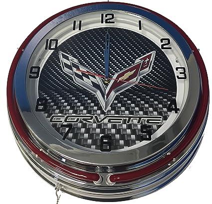 corvette c7 neon clock