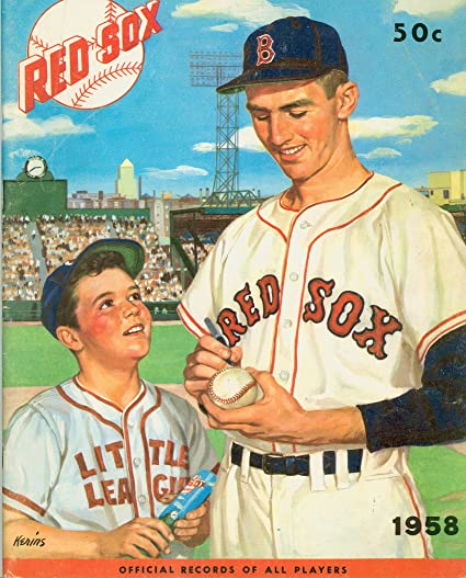 63a8f87fe Image Unavailable. Image not available for. Color: 1958 Red Sox Yearbook  Excellent