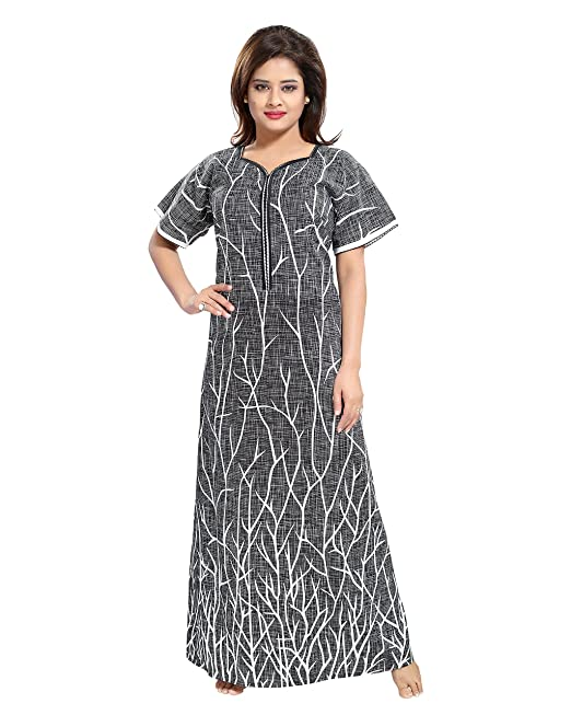 d745343757 TUCUTE Women s Cotton Nightdress (Grey