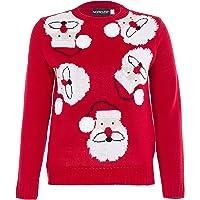 NOROZE Garçons Fille Unisexe Noël 3D Pull Enfants Xams Pullover Pull-Over Père Noël Bonhomme de Neige Renne Manchot