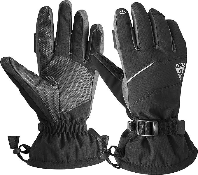 Tek Gear Men/'s Thinsulate Waterproof Texting Ski Gloves Black Size M//L