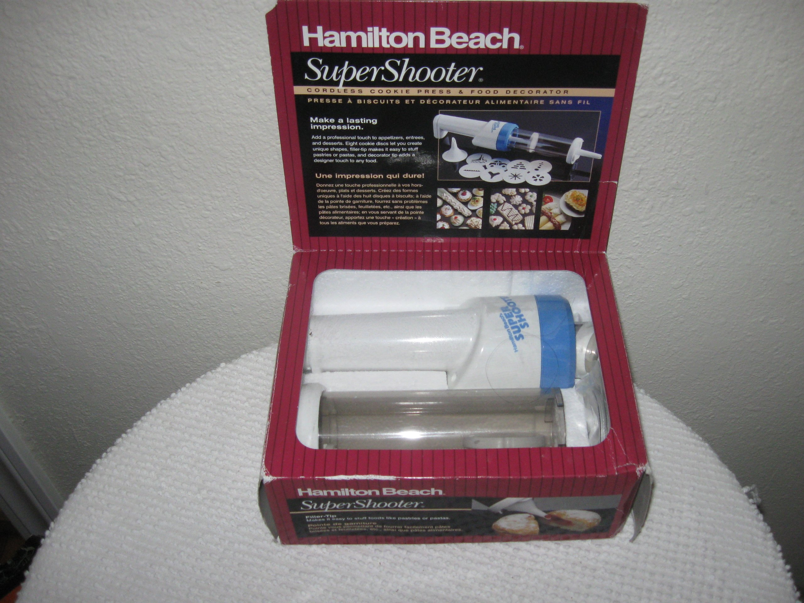 Super Shooter Cookie Press & Food Decorator by Hamilton Beach