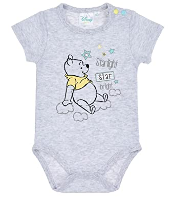 2988b3034ad7 Disney Winnie the Pooh Babies Boys Baby body - grey  Amazon.co.uk  Clothing