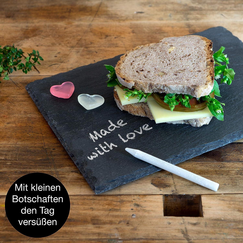 sous-Verre et Set de Table Plateau Ardoise Cuisine pour Fromage et Aperitif Moritz /& Moritz 6 x Assiette Ardoise 22x16cm