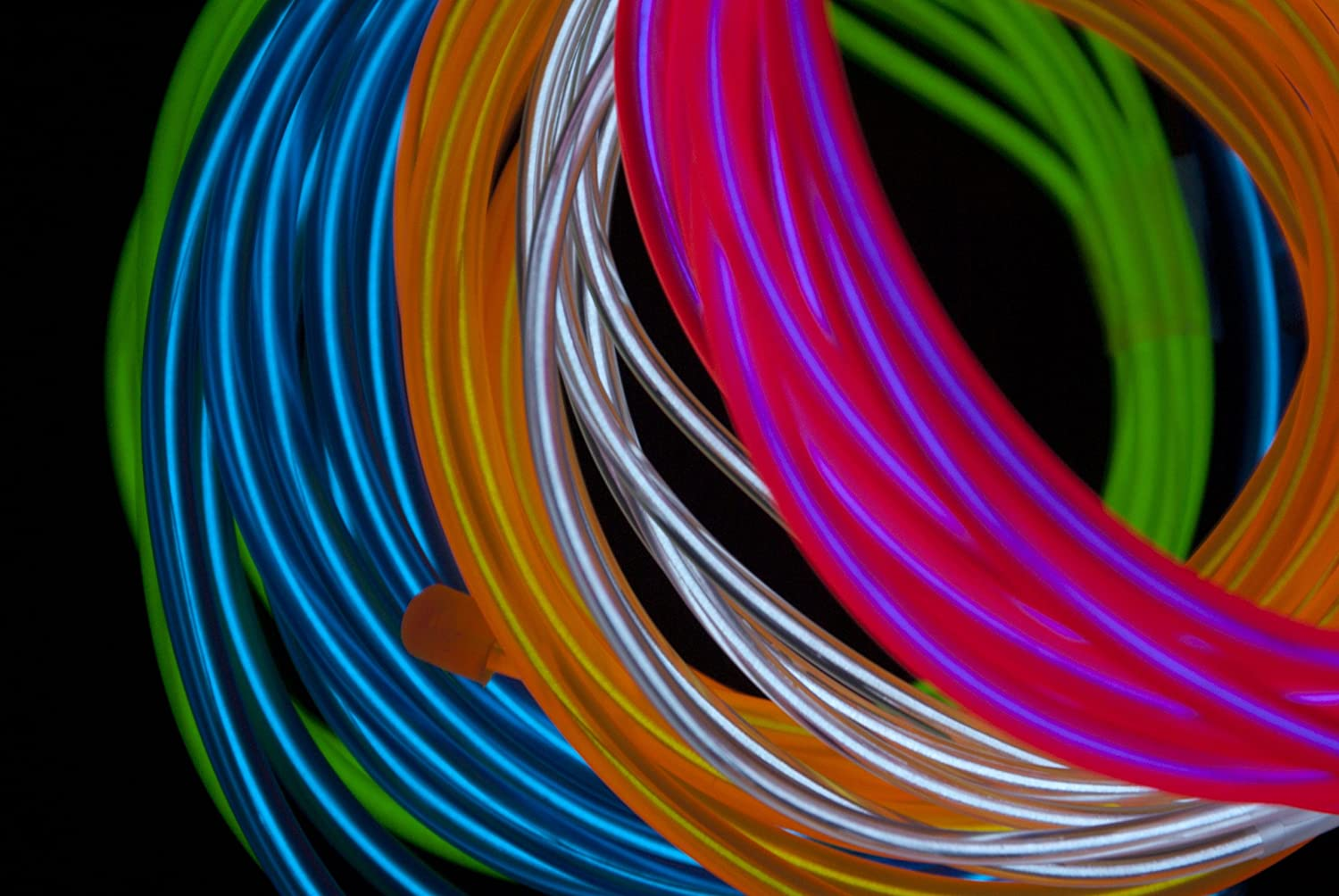 Fortune Products ELFW-3.2-3W Electroluminescent Flash Wire White Inc. 3.2mm Diameter x 3 yd Length