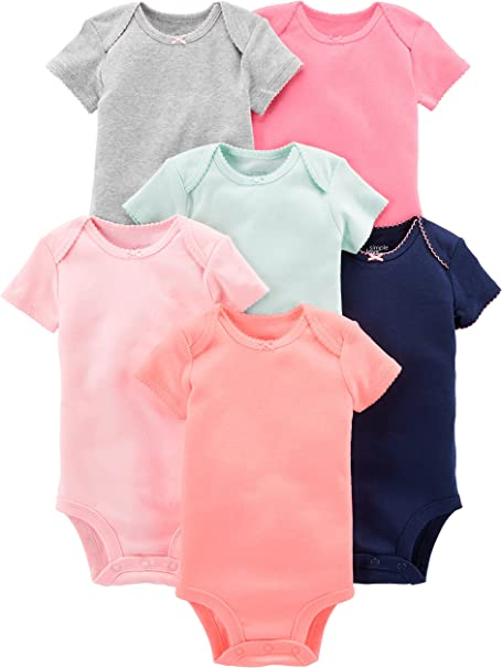 Rayas Beb/é prematuro Simple Joys by Carters Baby 6 unidades de body de manga corta