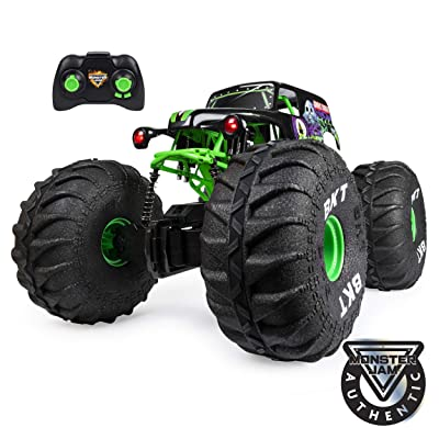 Monster Jam, Official Mega Grave Digger All-Terrain Remote Control Monster Truck with Lights, 1: 6 Scale: Toys & Games