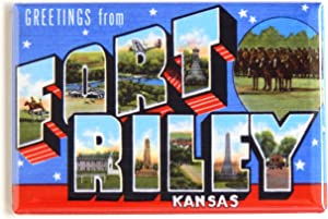 Greetings from Fort Riley Kansas Fridge Magnet (2 x 3 inches)