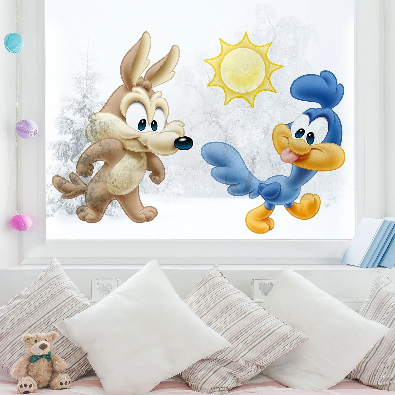 Bilderwelten Adhesivo para ventana Baby Looney Tunes Baby Wile E. Coyote & Road Runner lámina para ventana adhesivo de ventana tatuaje para ventana adhesivo ...