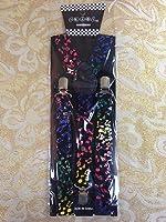 Colorful Musical Notes Elastic Adjustable Y-shape Clips-on Suspenders Women Men