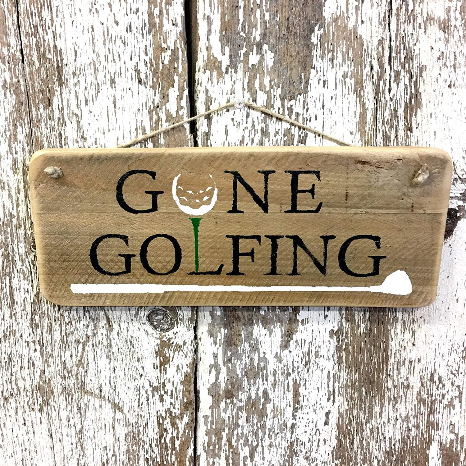 Golfing Gifts For Golfer Golf Signs Gone Golfing Sign Rustic Golf ...