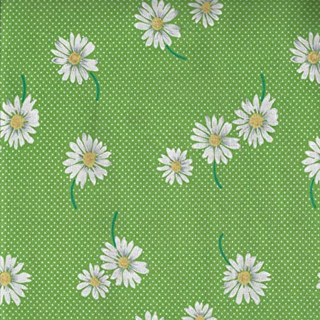 """41"""" Wide Pure Cotton Fabric Green Floral Printed Sewing Craft Dress By 1 Metre"""