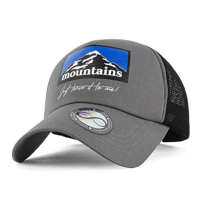 4e81b2aa620ecf EASTONE Mountains Baseball Cap Meshed Adjustable Cotton Trucker Hat (Gray)