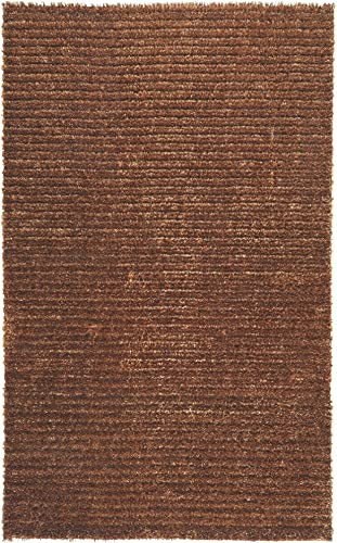 Surya Harvest HVT-6802 Shag Hand Woven 50 Polyester / 50 Jute Rust 5' x 8' Area Rug