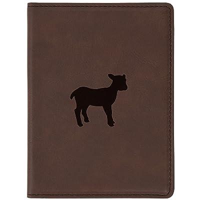 "Lamb Brown Leather Passport Holder - Laser Etched Design - 4 X 5.5"" Engraved Passport Holder For Women And Men"